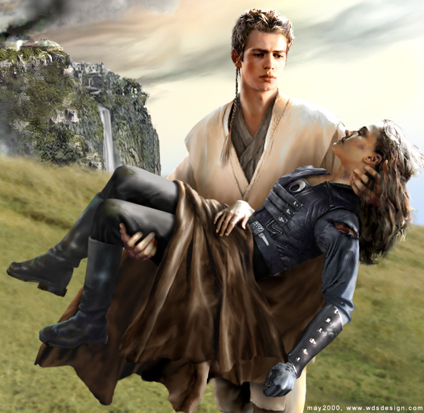 Ani's rescue of Amidala after the fall of Naboo