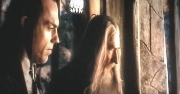 Elrond and Gandalf in Rivendell