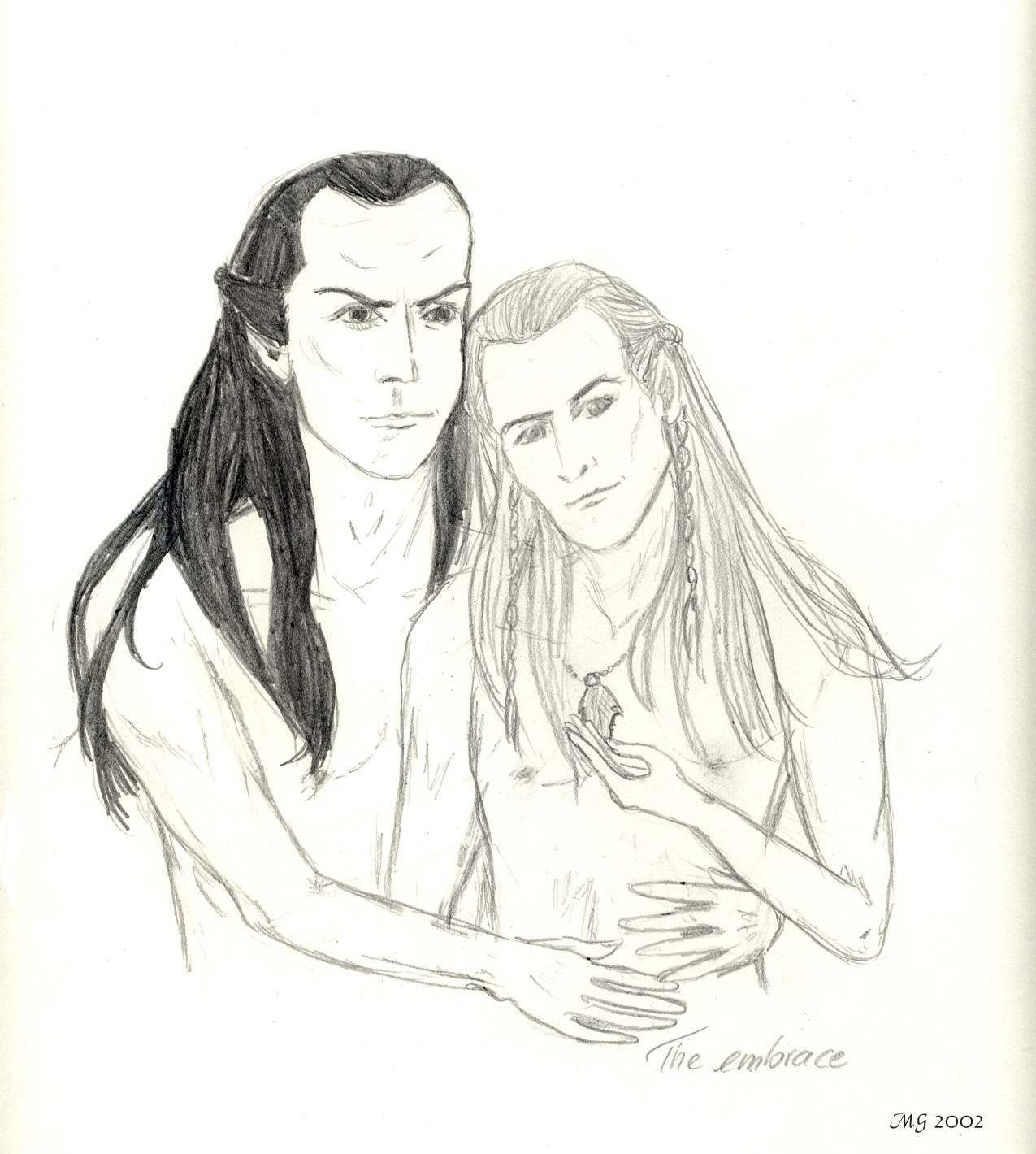 The Embrace, Legolas and Elrond