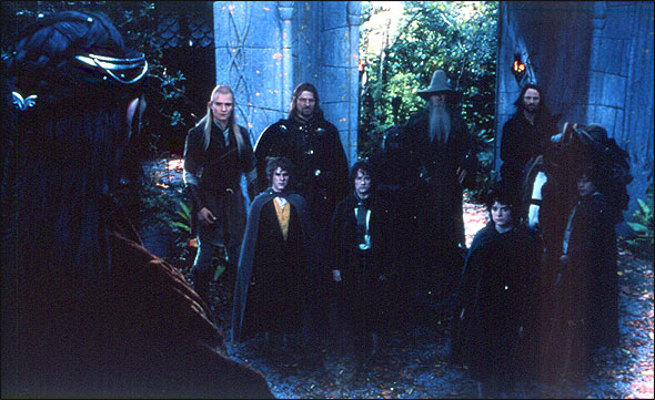 Elrond's farewell to the Fellowship