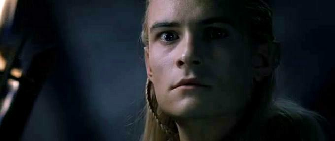 Legolas upon seeing the Balrog