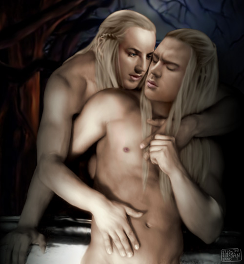 Celeborn and Haldir, Lord and Guardian